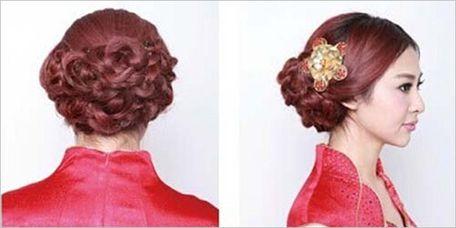 中式新娘发型盘发步骤9