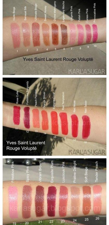 圣罗兰ysl圆管口红试色 圣罗兰圆管有哪些颜色